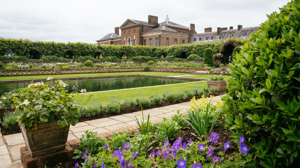 The redesigned Sunken Garden at Kensington Palace