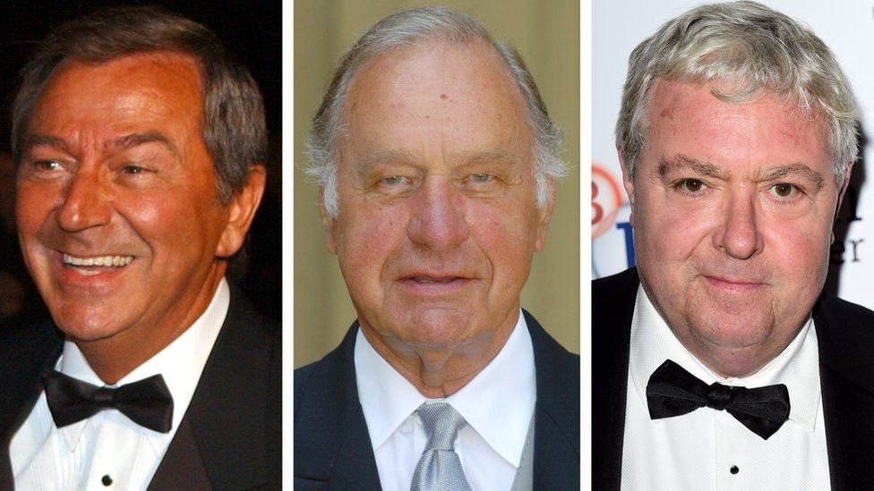 Des O'Connor, Geoffrey Palmer and John Sessions