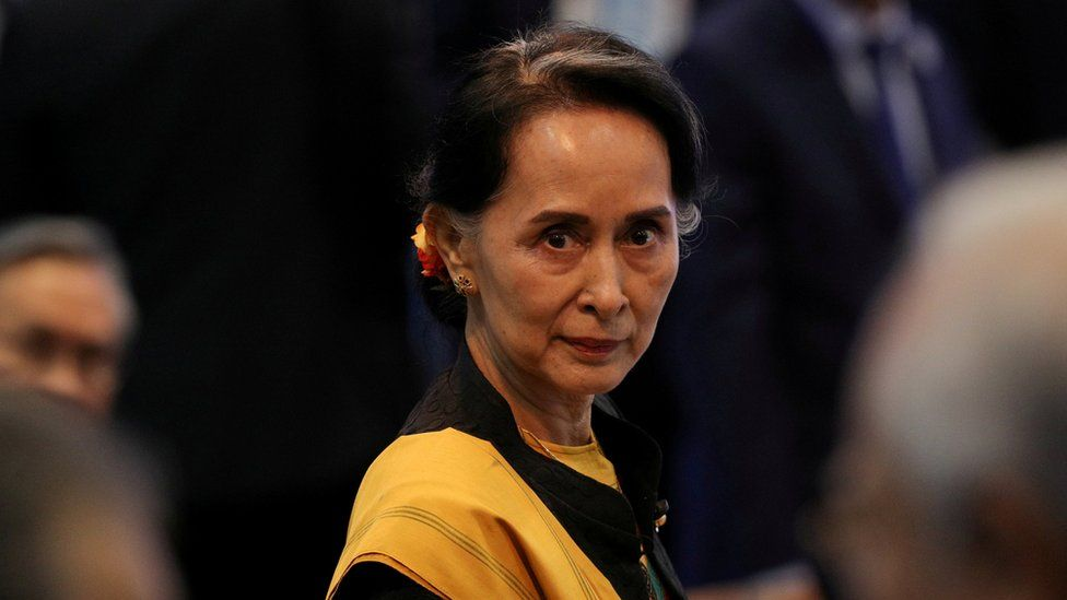 State Counselor Suu Kyi attends the opening session of the 31st ASEAN Summit in Manila