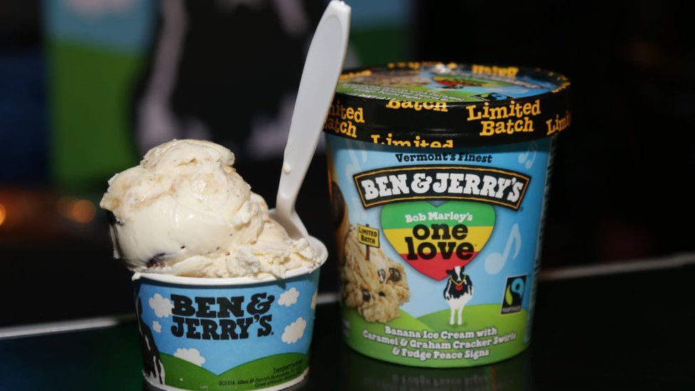 Tub of ice-cream