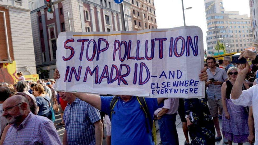 Madrid Central protest