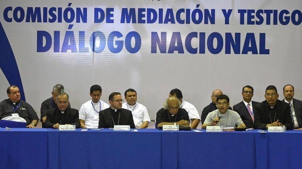 Peace talks in Managua, Nicaragua. Photo: 15 June 2018