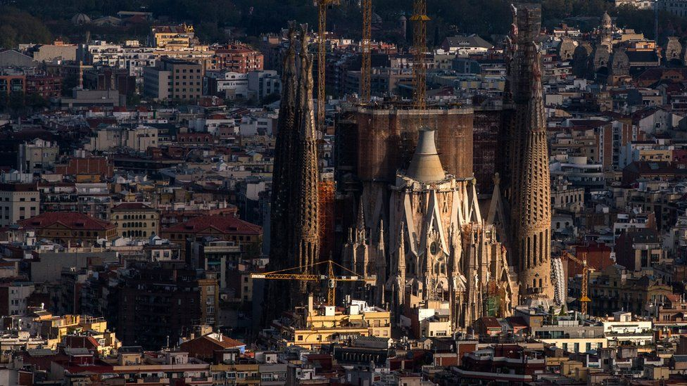 View of Barcelona dominated by Antoni Gaudí's Sagrada Familia church