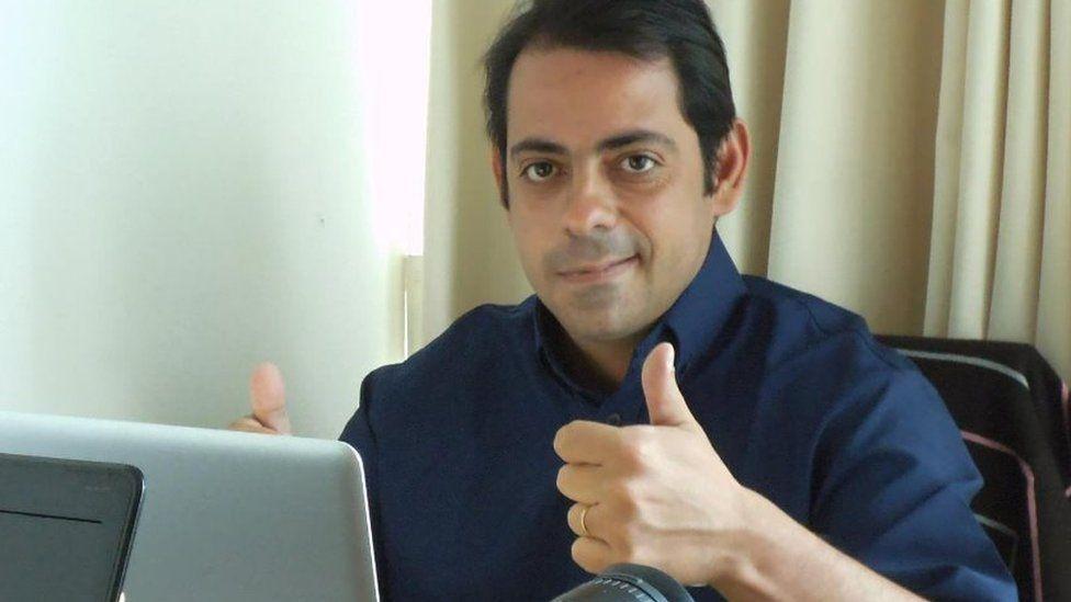 File picture of TV reporter Victorino Chermont