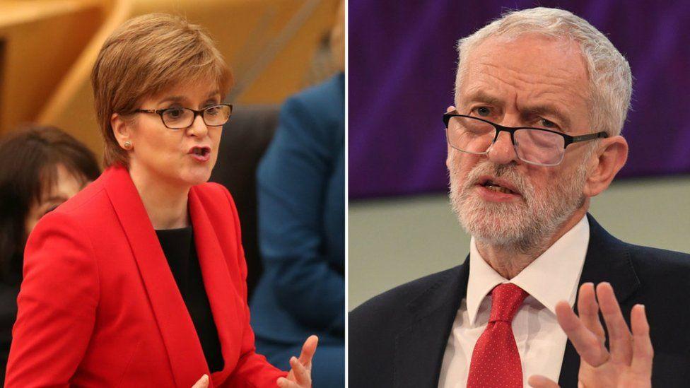 Nicola Sturgeon and Jeremy Corbyn