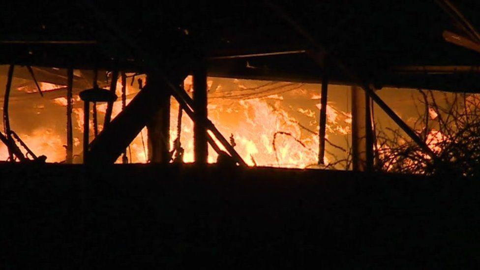 Fire at Llandow estate
