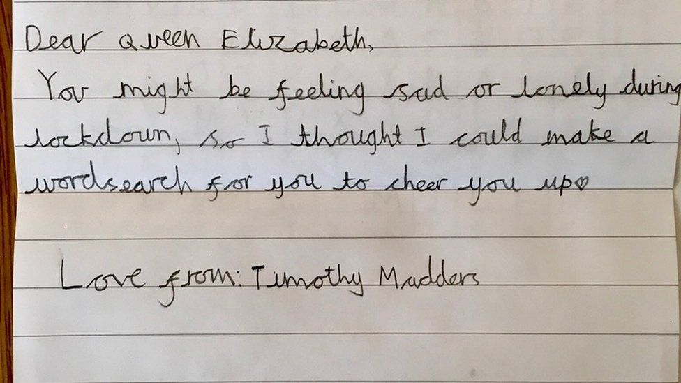 Timothy Madders wrote to the queen
