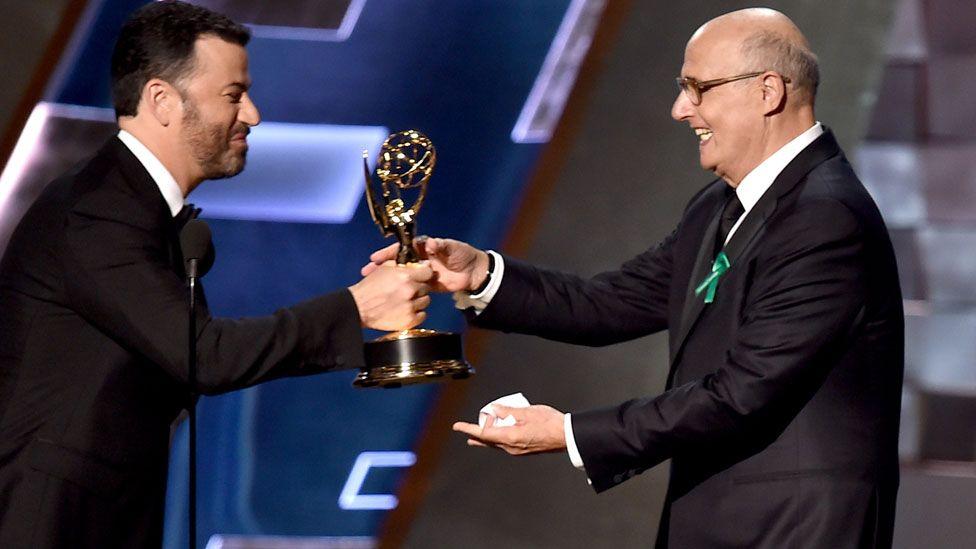 Jimmy Kimmel and Jeffrey Tambor