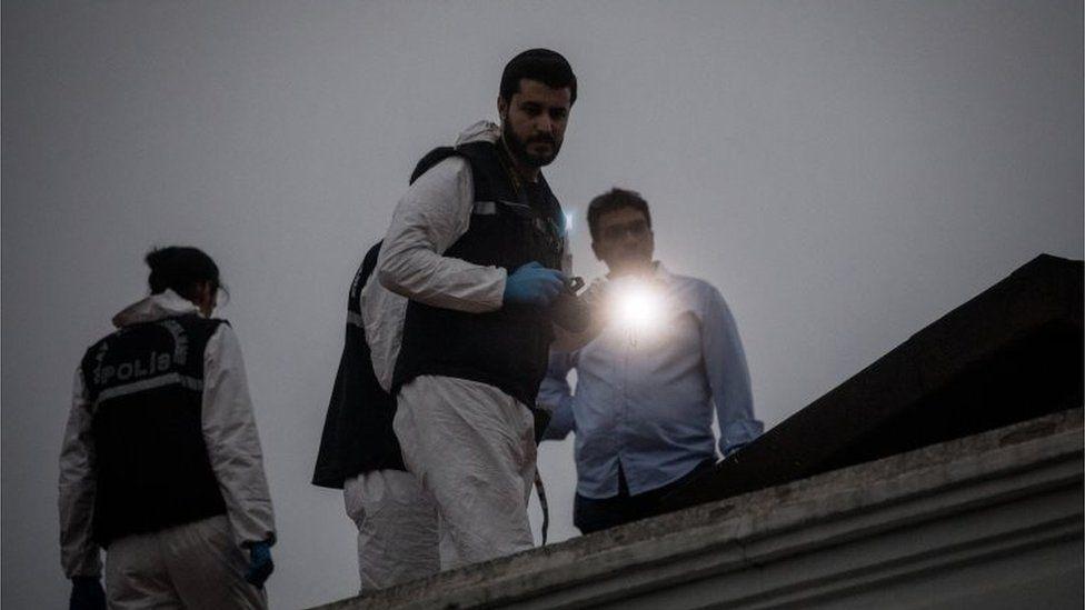 Turkish forensic police search Saudi consular buildings in Istanbul following the disappearance of Saudi journalist, Jamal Khashoggi, 16 October 2018