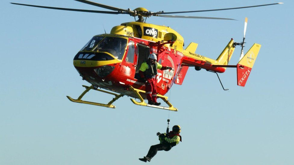 Auckland Westpac Rescue Helicopter in picture from July 2004