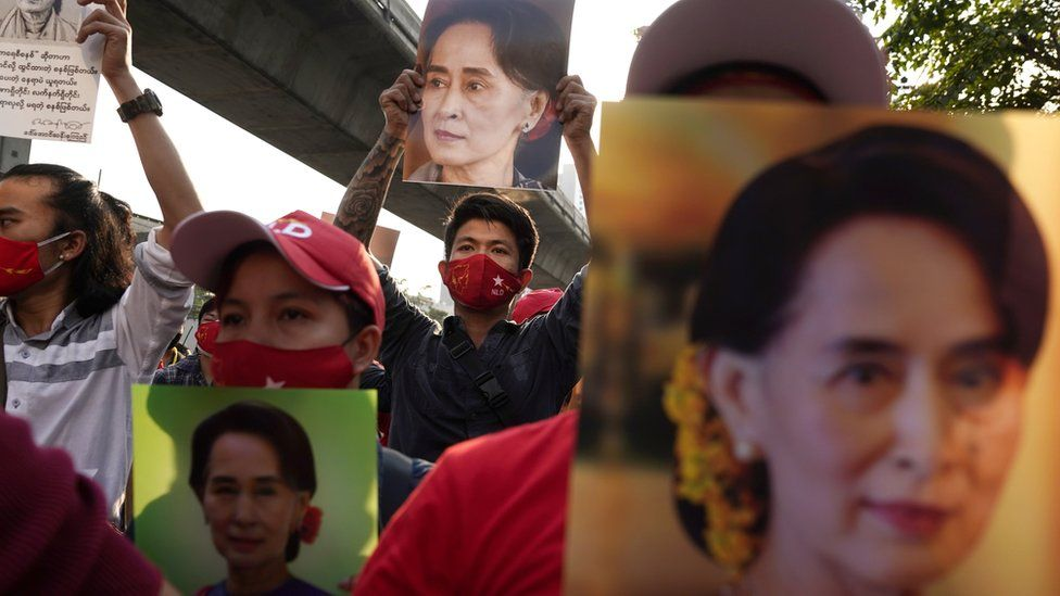 Protest in Thailand against the Myanmar military coup