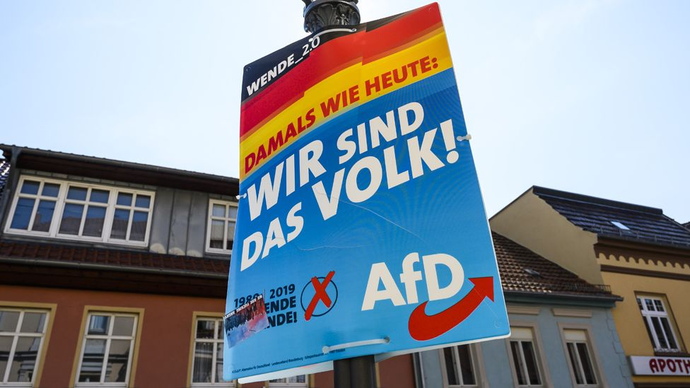 AfD poster in Zehdenick, 28 Aug 19