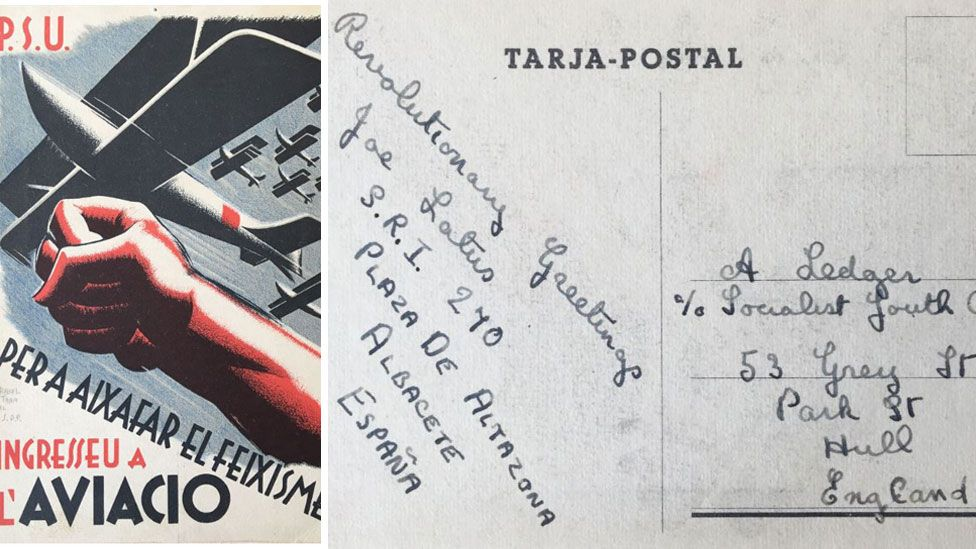 Hull man's Spanish Civil War postcards show 'powerful images