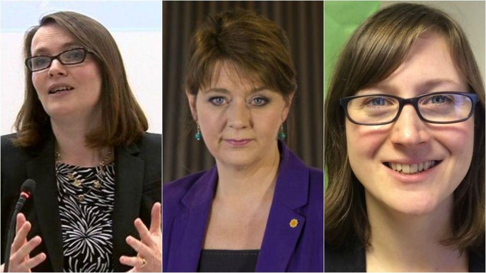 Kirsty Williams, Leanne Wood ac Alice Hooker-Stroud