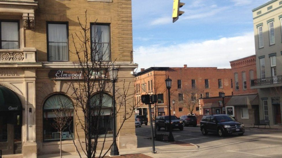 View of buildings in downtown Tiffin