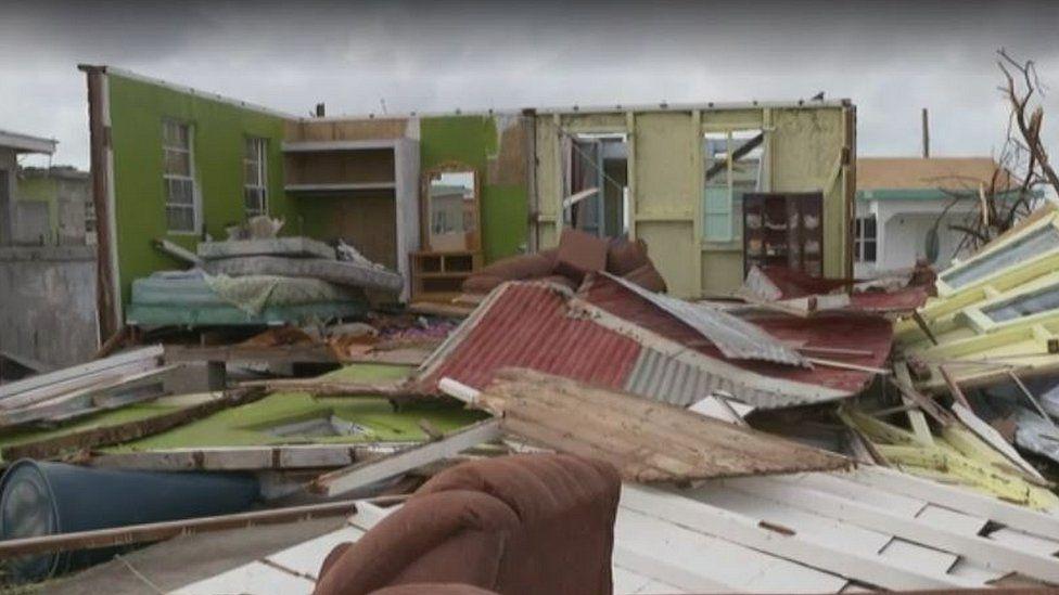 House damaged in Barbuda