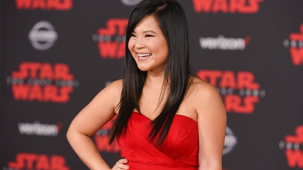 Kelly Marie Tran attends Premiere of Star Wars: The Last Jedi