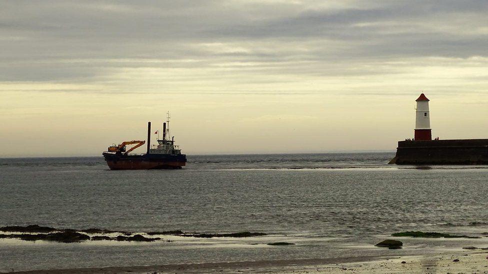 The stranded vessel
