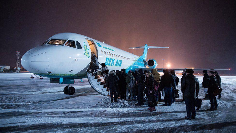 Bek Air flight in Astana in 2018