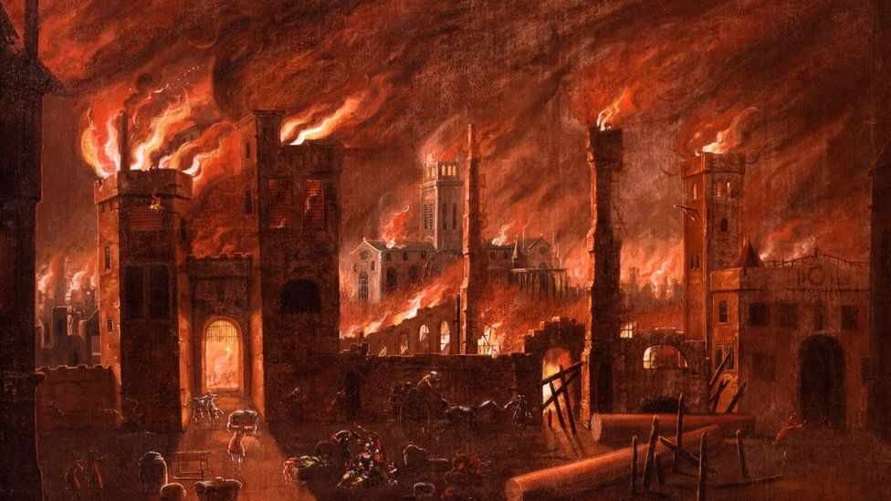 Great Fire painting
