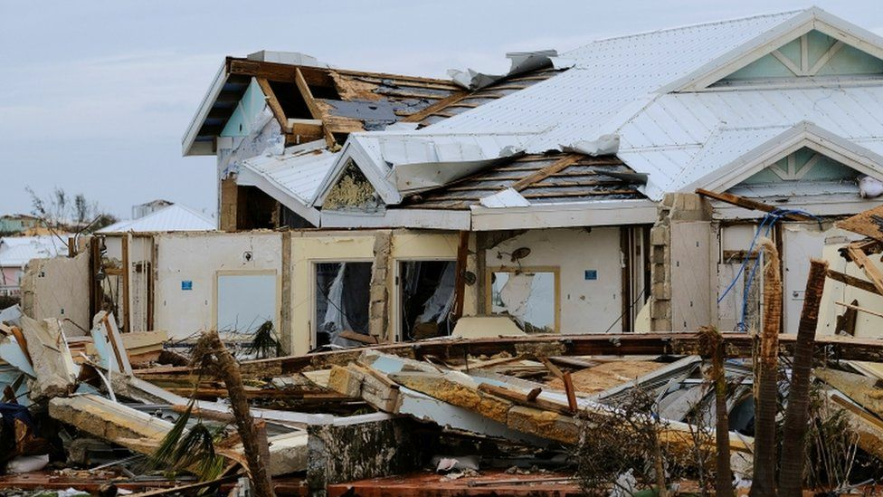 Devastation in the Abacos, northern Bahamas