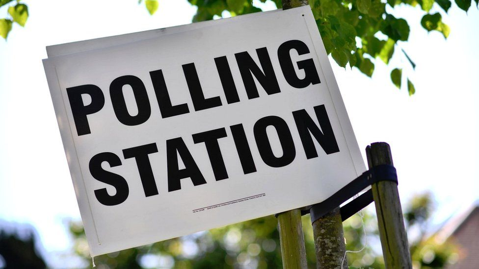 Polling station in south Croydon