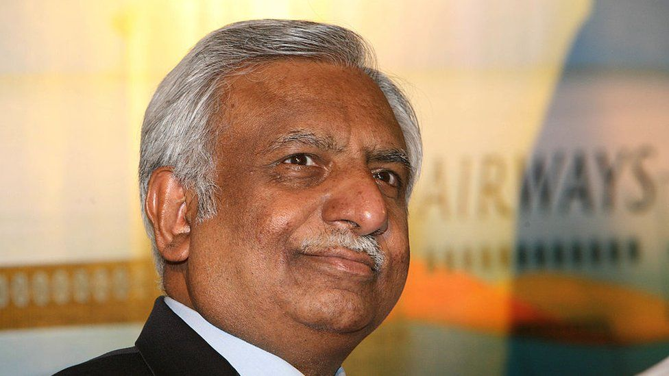 Naresh Goyal, Chairman of Jet Airways at a press conference to announce the inaugural flight of Jet Airways from Delhi to Toranto in New Delhi, India on Tuesday, September 4, 2007.