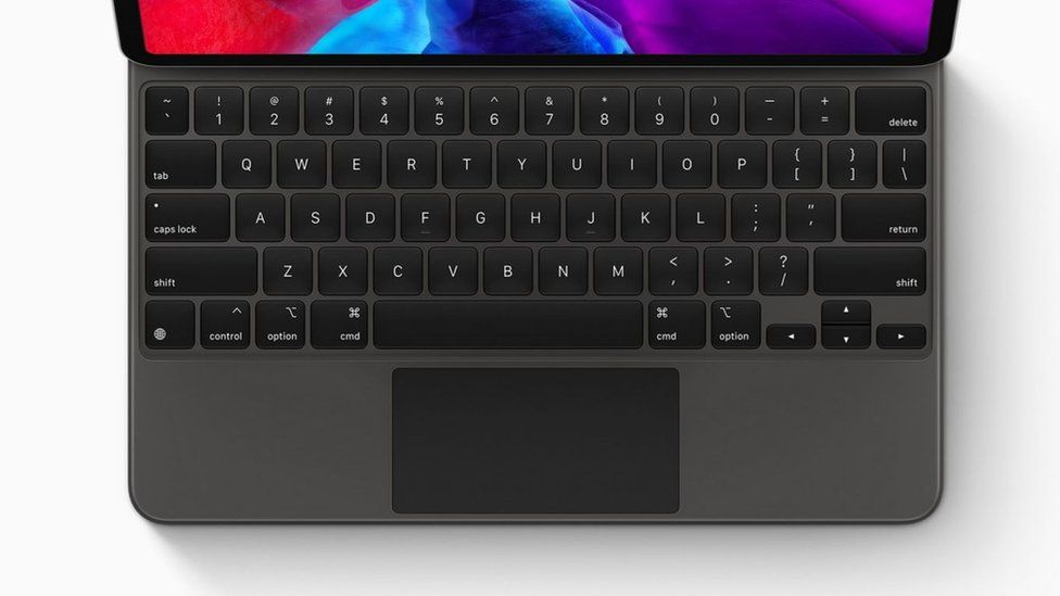 The Magic Keyboard attached to the new iPad Pro and is sold separately