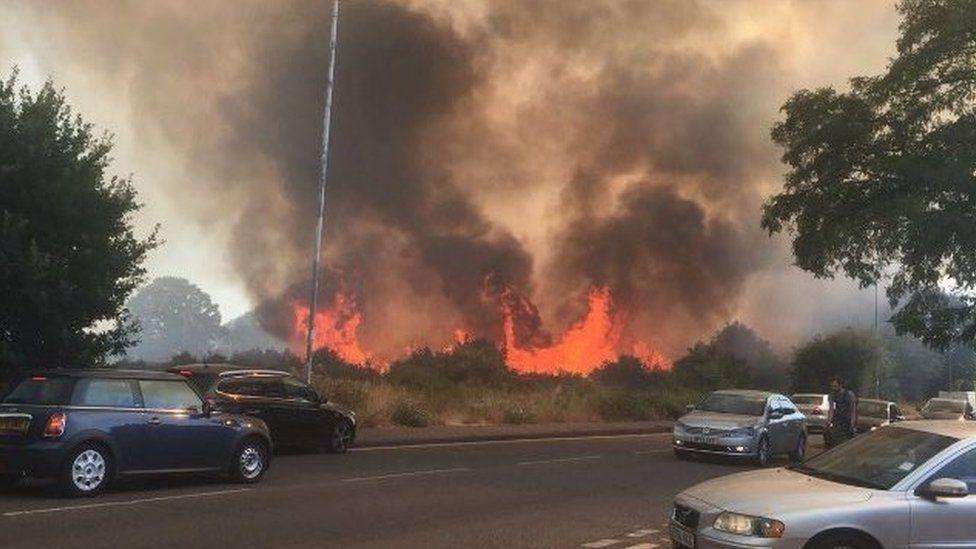 Wanstead Flats fire
