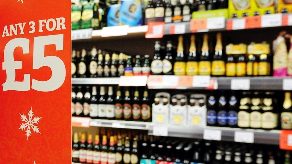 supermarket alcohol shelf