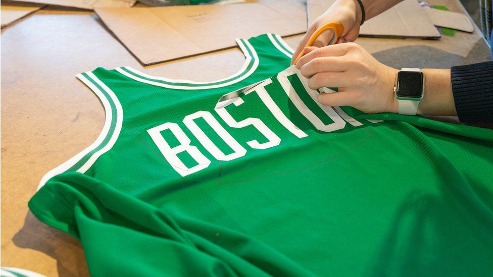 Cutting up an unused basketball top