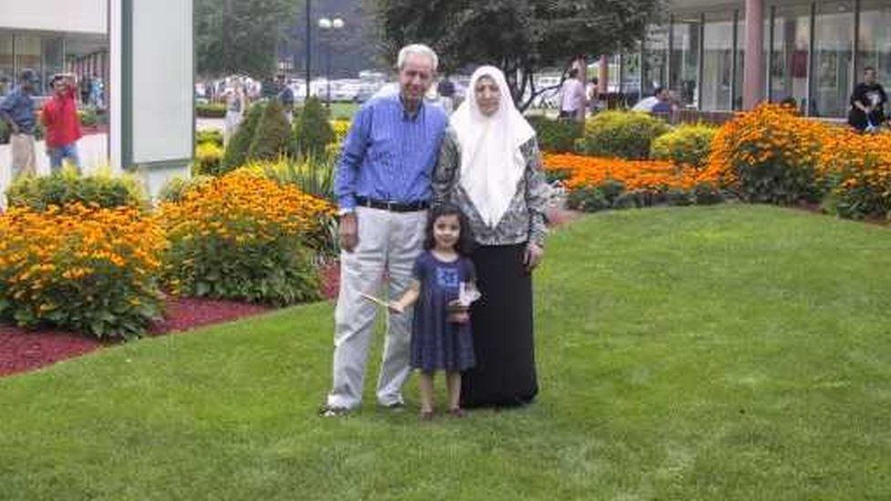 Leen with her grandparents