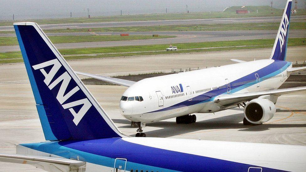 ANA aircraft on tarmac at Tokyo Haneda airport