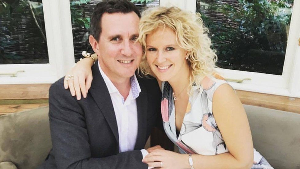 Jonathan Goldstein with his wife Hannah Goldstein