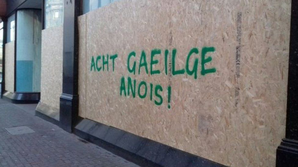 Irish Language Act graffiti