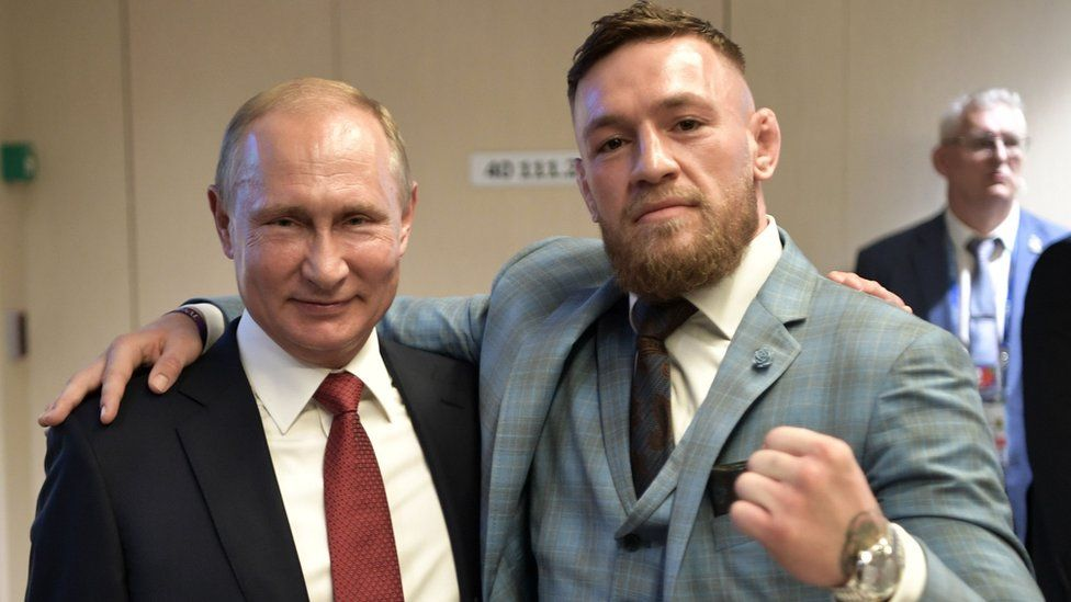 Conor McGregor and Vladimir Putin