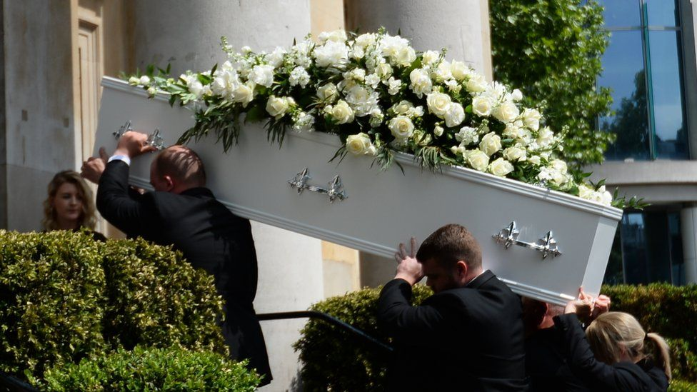 Dale Winton's funeral