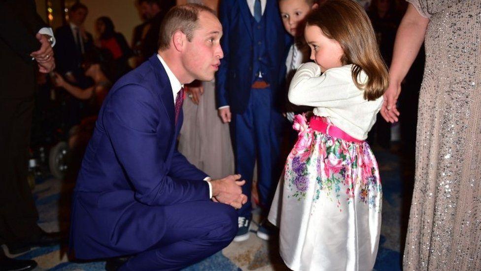 The Duke of Cambridge meets Suzie McCash at the Pride of Britain Awards 2017