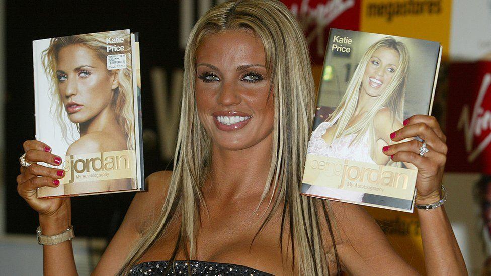 Katie Price promoting her book Being Jordan in 2004