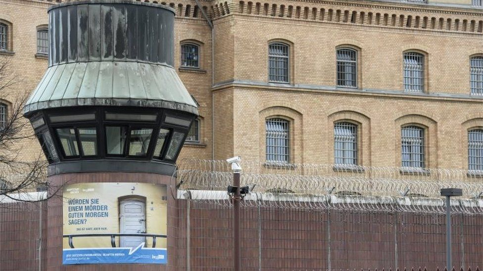 Moabit prison in Berlin, where cells were searched by police investigating Islamist extremism