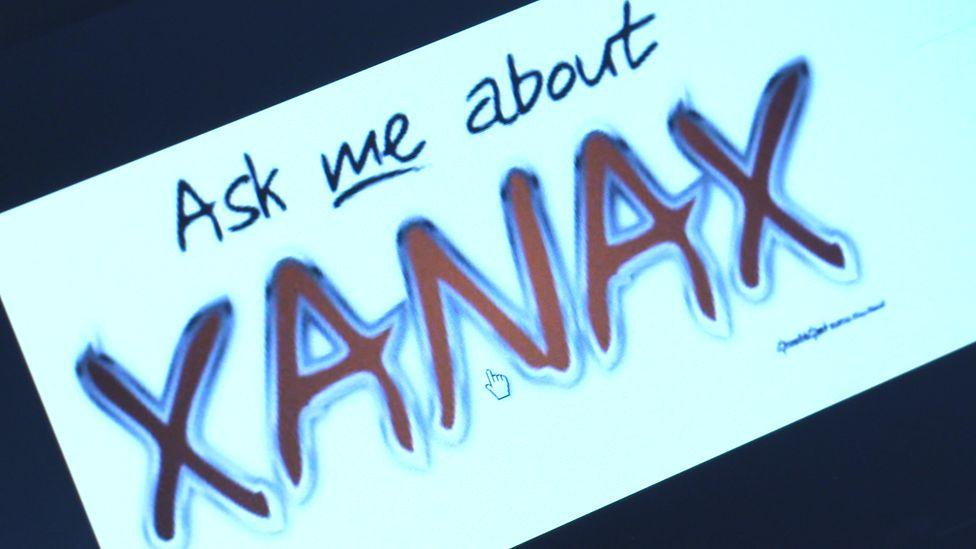 xanax on social media