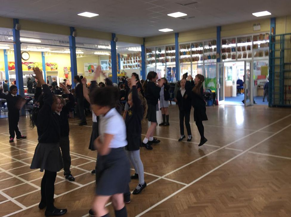 Year six lunchtime disco