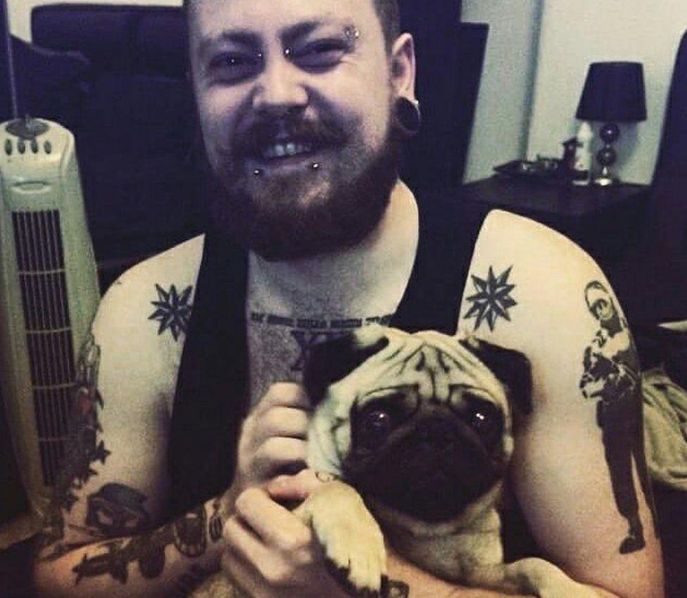 Mark Meechan and pug Buddha