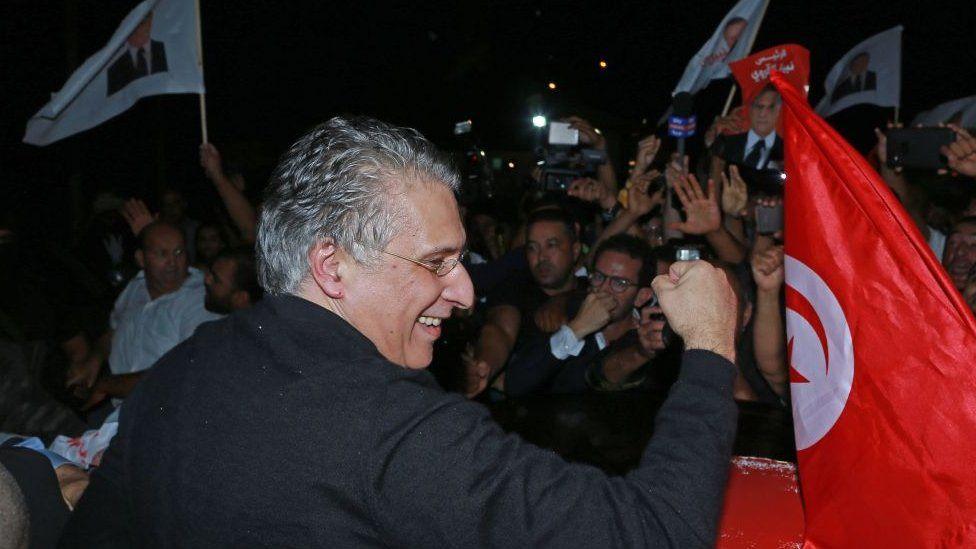 Le candidat à la présidentielle tunisienne Nabil Karoui est libre