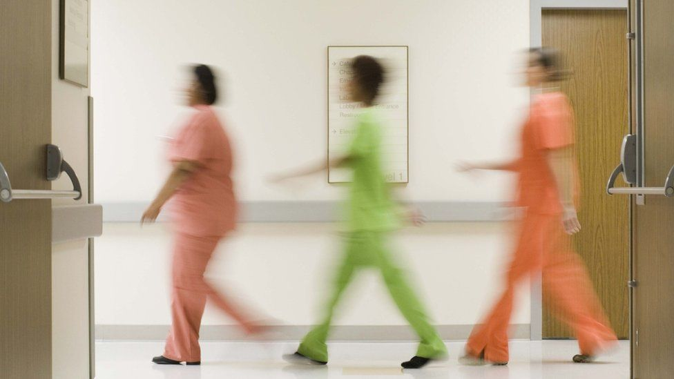 Hospital staff file picture