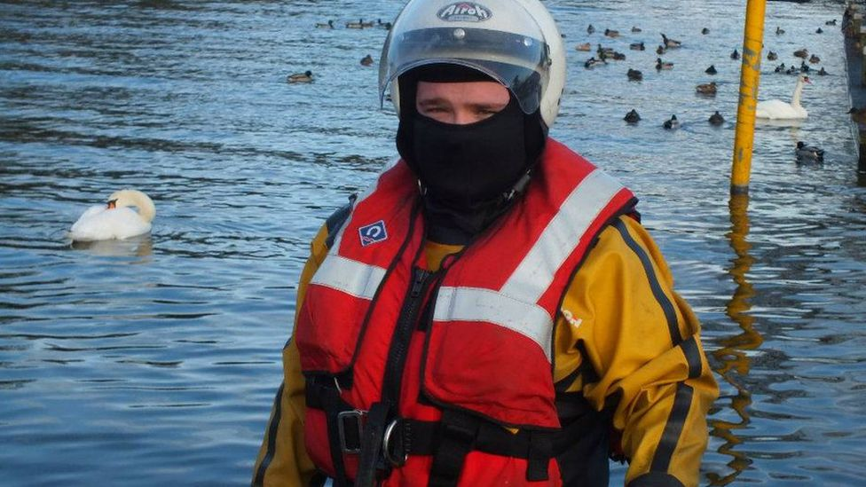 Lough Neagh Rescue volunteer Sammy Kyles