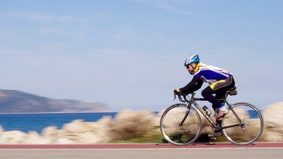 Cyclist in Mallorca