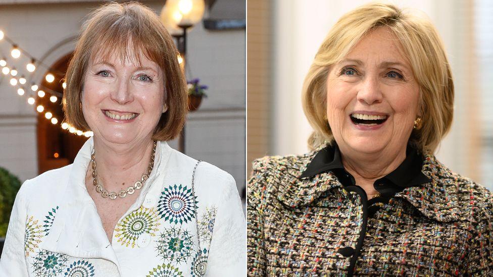 Harriet Harman and Hilary Clinton