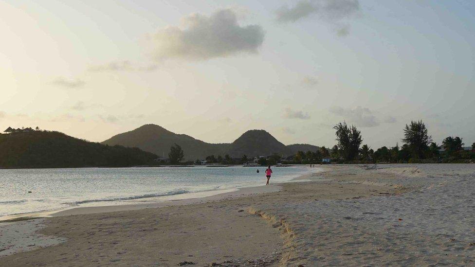 An empty beach in Antigua