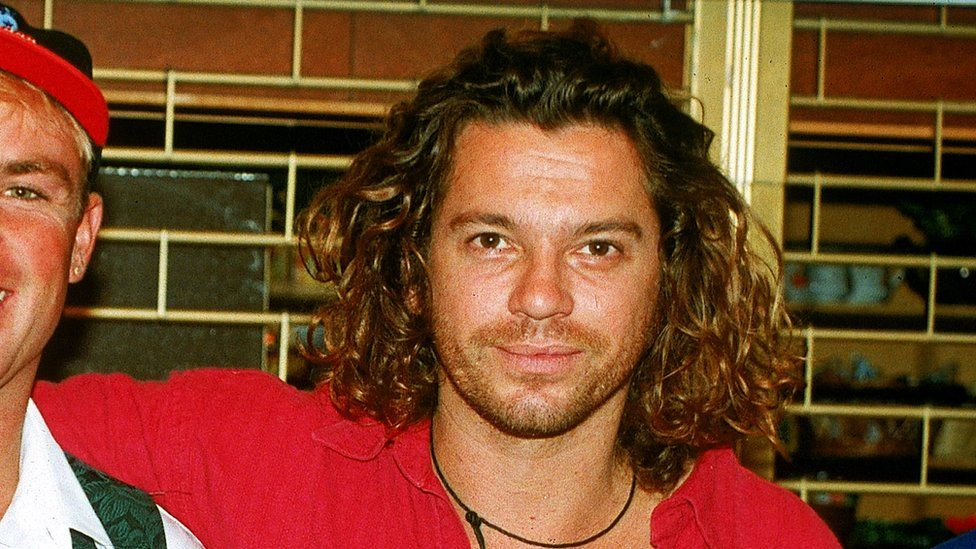 Michael Hutchence, lead singer of INXS, pictured in 1993 in London